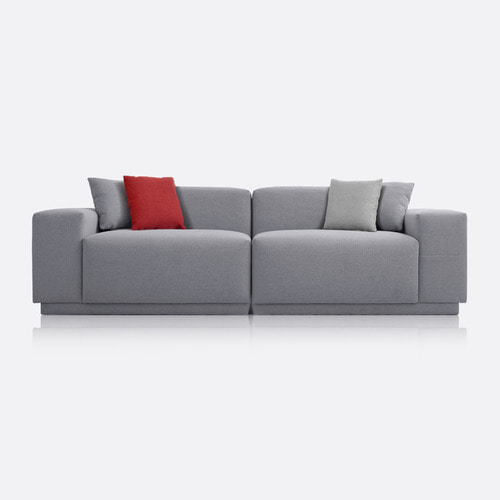 M5 Fabric Sofa_Chic Gray / 3 Seated