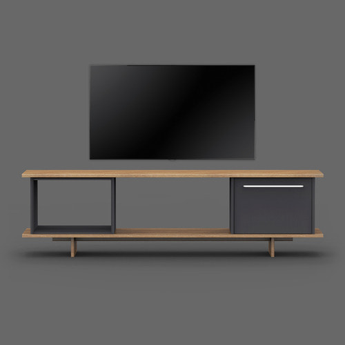 Blank TV Stand / Charcoal Black 1개