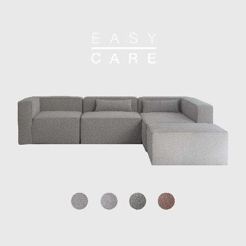 Timeless Sofa ABCD / EASY-CARE 4 Colors