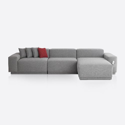 M5 Fabric Sofa Couch 5 seated / Chic Gray