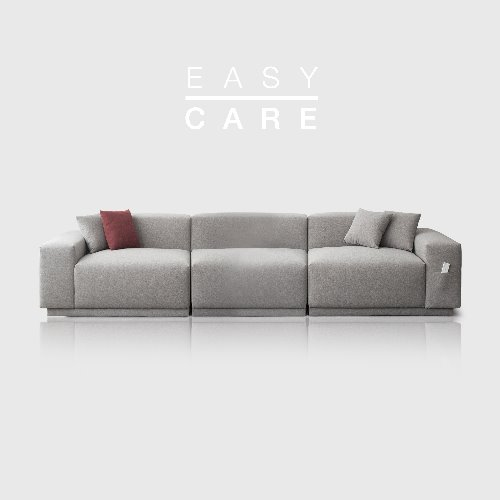 M5 Fabric Sofa_Easy Care Warm Gray / 5 seated