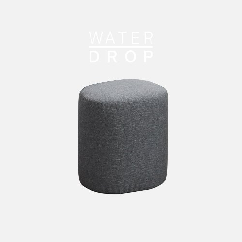 Track Sofa Stool / WATER DROP Smoke Gray