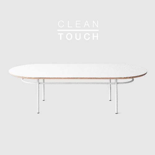 Track Sofa Table / CLEAN-TOUCH White
