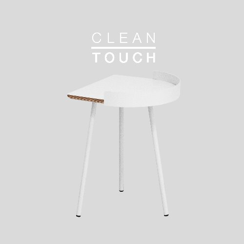 Half Track Table / CLEAN-TOUCH White