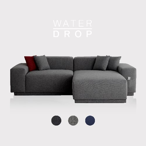 M5 Fabric Sofa Couch WATER-DROP / 3 seated