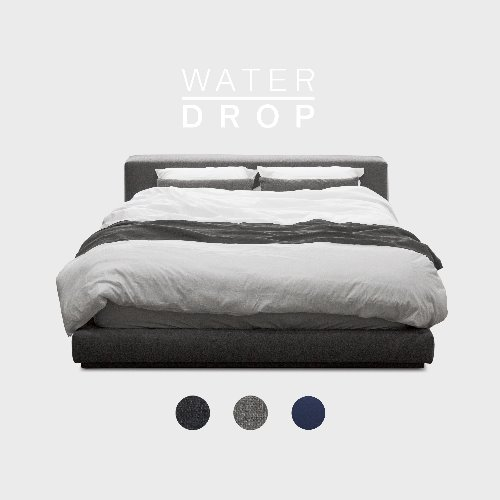 M5-Fabric Bed_WATER DROP / 3 Color