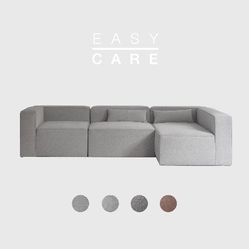[SLOW PAY] Timeless Sofa A+B+D Module / EASY-CARE 4 Colors