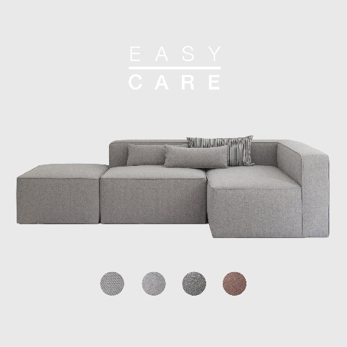 [SLOW PAY] Timeless Sofa A+B+C Module / EASY-CARE 4 Colors