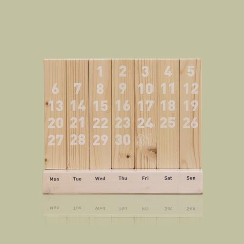 Wood Calendar / White