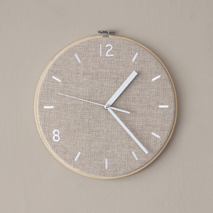 Fabric Clock / Milky Beige