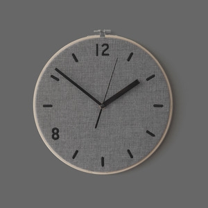 Fabric Clock / Chic Gray