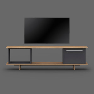 Blank TV Stand / Charcoal Black