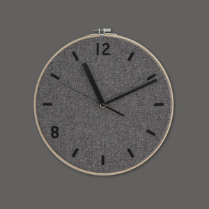 Fabric Clock / Dim Gray