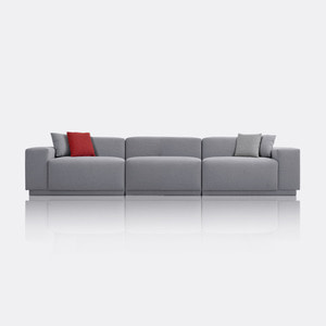 M5 Fabric Sofa_Chic Gray / 5 Seated