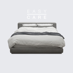 M5-Fabric Bed_Dim Gray / Queen