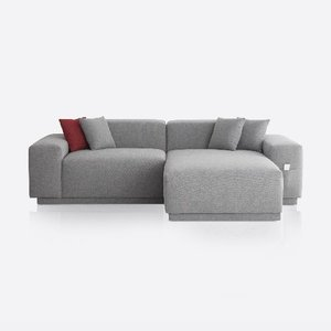 M5 Fabric Sofa Couch_Chic Gray / 3 seated