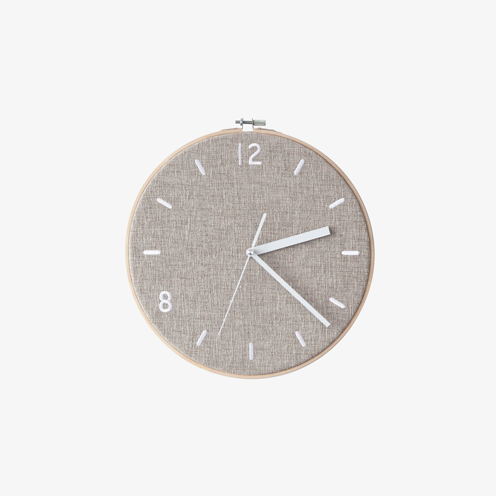 FABRIC CLOCK / LATTE BEIGE